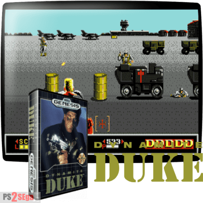Dynamite Duke шутер для сега